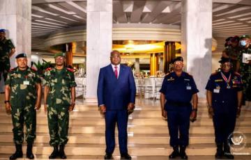 Les Généraux et Officiers des FARDC et de la PNC renouvellent leur loyauté au président Tshisekedi